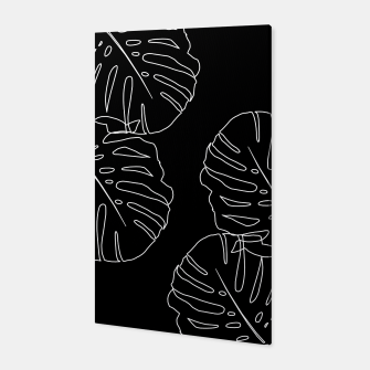 Thumbnail image of Monstera Leaves Finesse Line Art #3 #minimal #decor #art Canvas, Live Heroes