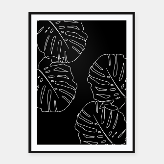 Thumbnail image of Monstera Leaves Finesse Line Art #3 #minimal #decor #art Plakat mit rahmen, Live Heroes