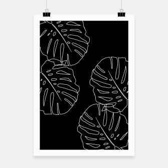Thumbnail image of Monstera Leaves Finesse Line Art #3 #minimal #decor #art Plakat, Live Heroes