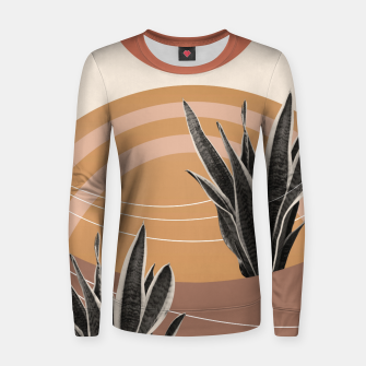 Thumbnail image of Snake Plant in the Desert #2 #tropical #wall #art  Frauen sweatshirt, Live Heroes