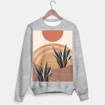 Thumbnail image of Snake Plant in the Desert #2 #tropical #wall #art  Sweatshirt regulär, Live Heroes