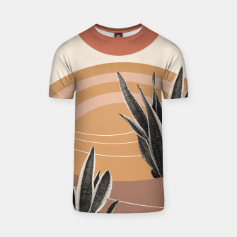 Thumbnail image of Snake Plant in the Desert #2 #tropical #wall #art  T-Shirt, Live Heroes