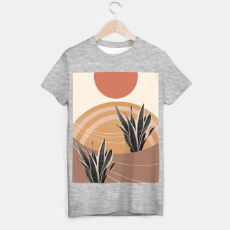 Thumbnail image of Snake Plant in the Desert #2 #tropical #wall #art  T-Shirt regulär, Live Heroes