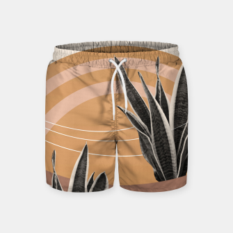 Thumbnail image of Snake Plant in the Desert #2 #tropical #wall #art  Badeshorts, Live Heroes