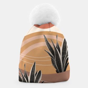 Thumbnail image of Snake Plant in the Desert #2 #tropical #wall #art  Mütze, Live Heroes