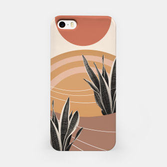 Thumbnail image of Snake Plant in the Desert #2 #tropical #wall #art  iPhone-Hülle, Live Heroes