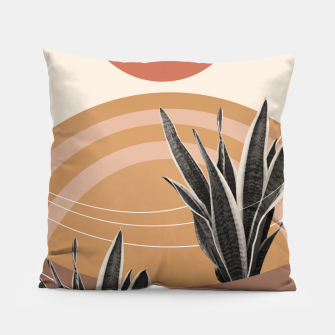 Thumbnail image of Snake Plant in the Desert #2 #tropical #wall #art  Kissen, Live Heroes