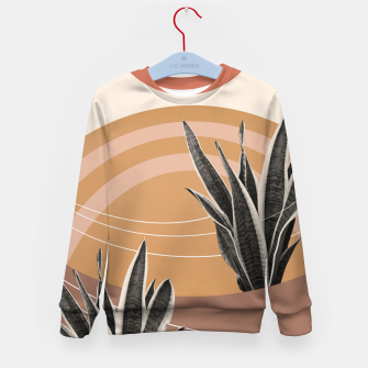 Thumbnail image of Snake Plant in the Desert #2 #tropical #wall #art  Kindersweatshirt, Live Heroes