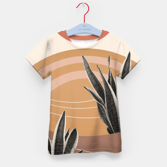 Thumbnail image of Snake Plant in the Desert #2 #tropical #wall #art  T-Shirt für kinder, Live Heroes
