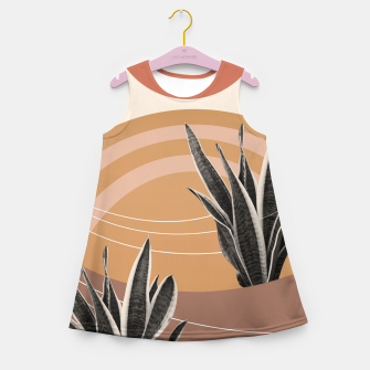 Thumbnail image of Snake Plant in the Desert #2 #tropical #wall #art  Mädchen-Sommerkleid, Live Heroes