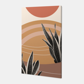 Thumbnail image of Snake Plant in the Desert #2 #tropical #wall #art  Canvas, Live Heroes