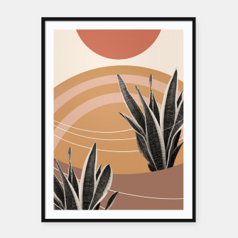 Thumbnail image of Snake Plant in the Desert #2 #tropical #wall #art  Plakat mit rahmen, Live Heroes