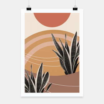 Thumbnail image of Snake Plant in the Desert #2 #tropical #wall #art  Plakat, Live Heroes