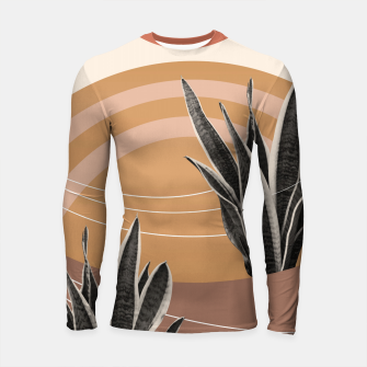 Thumbnail image of Snake Plant in the Desert #2 #tropical #wall #art  Longsleeve rashguard, Live Heroes