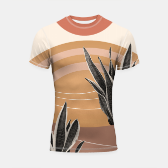 Thumbnail image of Snake Plant in the Desert #2 #tropical #wall #art  Shortsleeve rashguard, Live Heroes