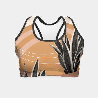 Thumbnail image of Snake Plant in the Desert #2 #tropical #wall #art  Crop Top, Live Heroes