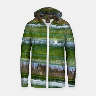 Thumbnail image of greenish Zip up hoodie, Live Heroes