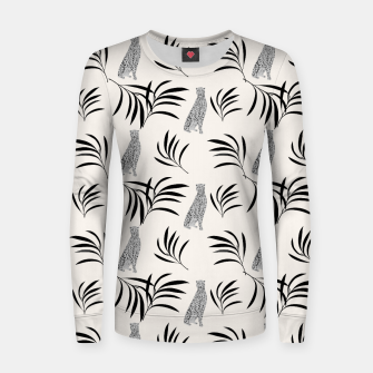 Thumbnail image of Cheetah Eucalyptus Glam Pattern #5 #tropical #decor #art  Frauen sweatshirt, Live Heroes