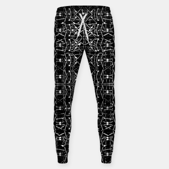 Thumbnail image of Black and White Ethnic Ornate Pattern Sweatpants, Live Heroes