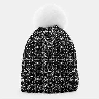 Thumbnail image of Black and White Ethnic Ornate Pattern Beanie, Live Heroes