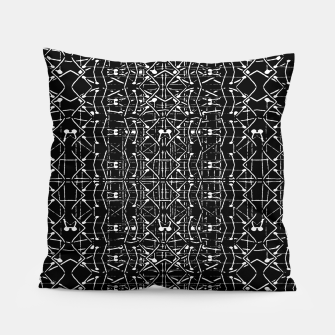 Thumbnail image of Black and White Ethnic Ornate Pattern Pillow, Live Heroes