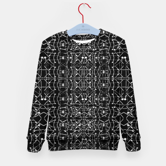 Thumbnail image of Black and White Ethnic Ornate Pattern Kid's sweater, Live Heroes