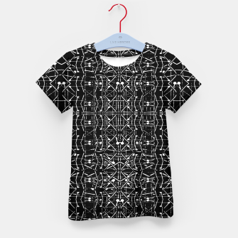 Thumbnail image of Black and White Ethnic Ornate Pattern Kid's t-shirt, Live Heroes