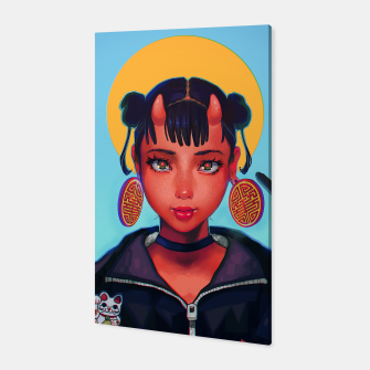 Thumbnail image of Demon Chinese Girl Canvas, Live Heroes