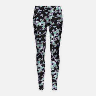Thumbnail image of Intricate Modern Abstract Ornate Pattern Girl's leggings, Live Heroes