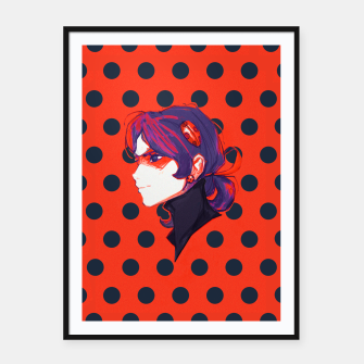 Thumbnail image of Ladybug Cartel con marco, Live Heroes