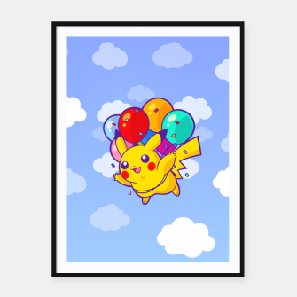 Thumbnail image of Pikachu Balloons Cartel con marco, Live Heroes