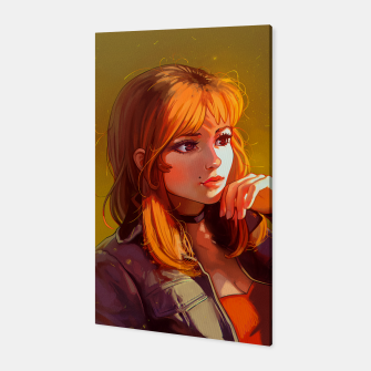 Miniatur Red Hair Girl Canvas, Live Heroes