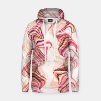 Miniatur Abstract smoke tunnels, pink curvy shapes, texture design, crazy smoky print Hoodie, Live Heroes