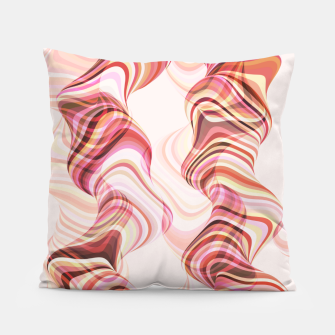 Miniatur Abstract smoke tunnels, pink curvy shapes, texture design, crazy smoky print Pillow, Live Heroes
