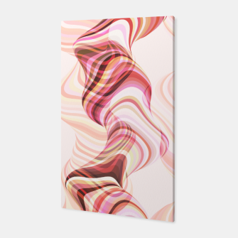 Miniatur Abstract smoke tunnels, pink curvy shapes, texture design, crazy smoky print Canvas, Live Heroes