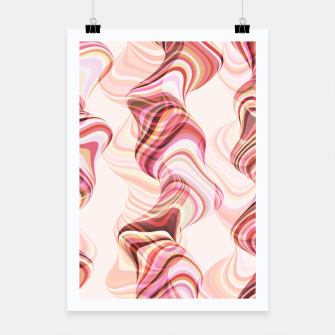 Miniatur Abstract smoke tunnels, pink curvy shapes, texture design, crazy smoky print Poster, Live Heroes