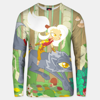 Thumbnail image of Wolf Rider - through the old woods Unisex sweater, Live Heroes