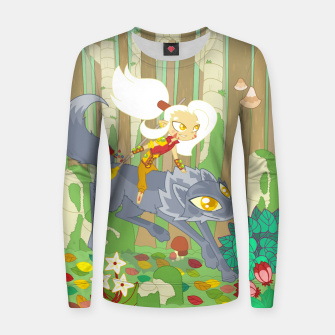 Thumbnail image of Wolf Rider - through the old woods Women sweater, Live Heroes