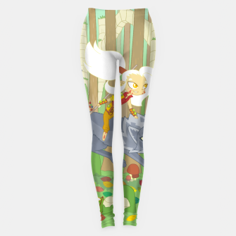 Thumbnail image of Wolf Rider - through the old woods Leggings, Live Heroes