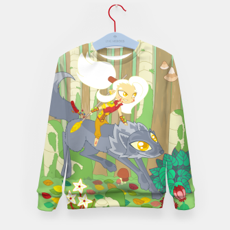 Thumbnail image of Wolf Rider - through the old woods Kid's sweater, Live Heroes