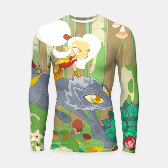 Thumbnail image of Wolf Rider - through the old woods Longsleeve rashguard , Live Heroes