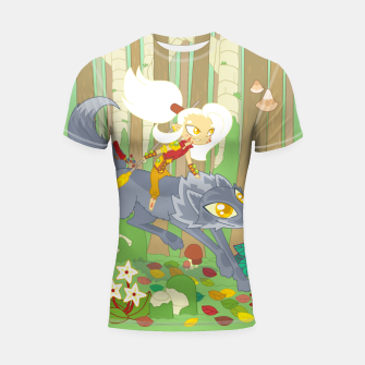 Thumbnail image of Wolf Rider - through the old woods Shortsleeve rashguard, Live Heroes