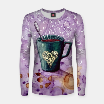 Thumbnail image of Ode to the coffee Women sweater, Live Heroes