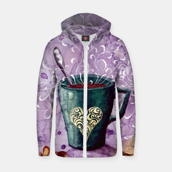 Thumbnail image of Ode to the coffee Zip up hoodie, Live Heroes