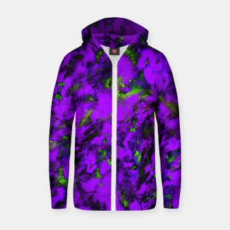 Thumbnail image of Fluttering purple Zip up hoodie, Live Heroes