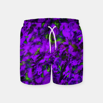 Thumbnail image of Fluttering purple Swim Shorts, Live Heroes