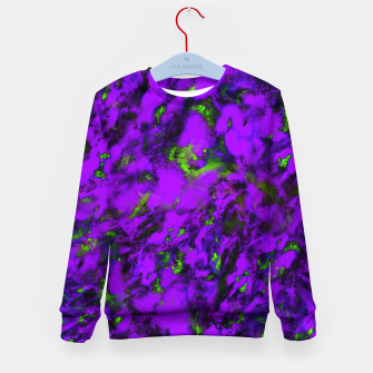 Thumbnail image of Fluttering purple Kid's sweater, Live Heroes