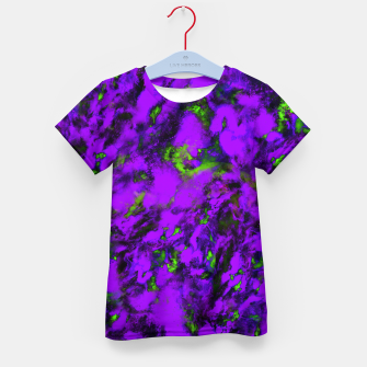 Thumbnail image of Fluttering purple Kid's t-shirt, Live Heroes