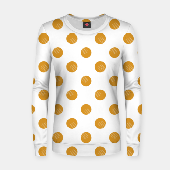 Thumbnail image of Mustard Dots White Lines Women sweater, Live Heroes