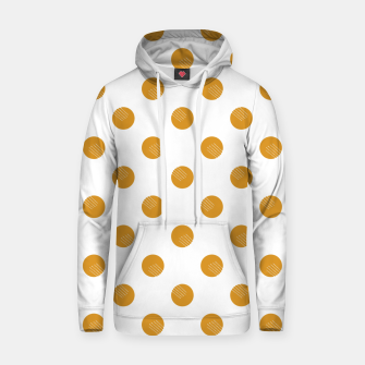 Thumbnail image of Mustard Dots White Lines Hoodie, Live Heroes